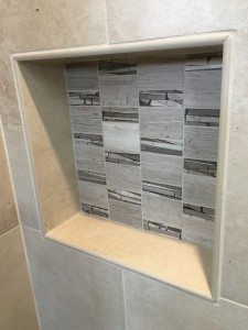 Recessed Niche with Small Horizontal Tile
