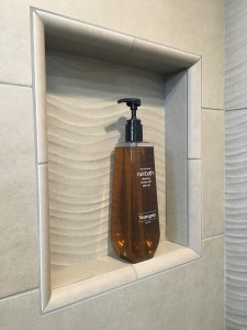 Large Recessed Niche with Large Soap Bottle
